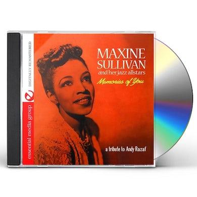 Maxine Sullivan MEMORIES OF YOU CD
