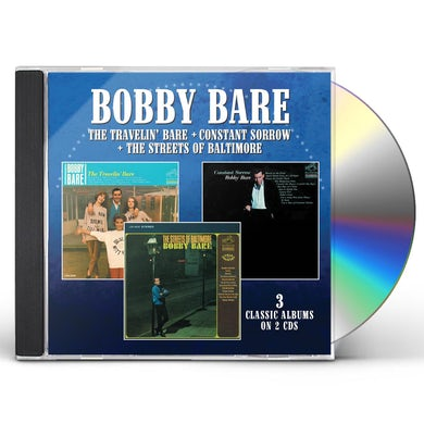 Bobby Bare TRAVELIN BARE / CONSTANT SORROW / STREETS OF CD