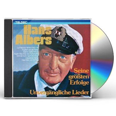 Hans Albers UNVERGAENGLICHE LIEDER CD