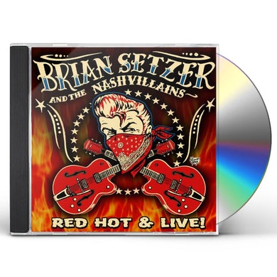 Brian Setzer RED HOT & LIVE CD