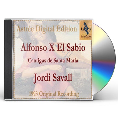 Jordi Savall ALFONSO X THE WISE: CANTIGAS DE SANTA MARIA CD Super Audio CD