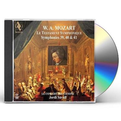 Jordi Savall MOZART: SYMPHONIES NO.39, 40 & 41 Super Audio CD