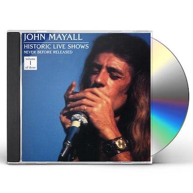 John Mayall HISTORIC LIVE SHOWS 1 CD