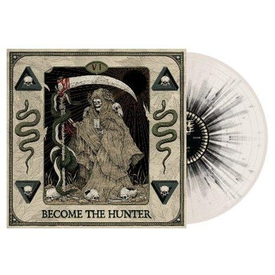 Suicide Silence BECOME THE HUNTER (BONE/BLACK SPLATTER) Vinyl Record