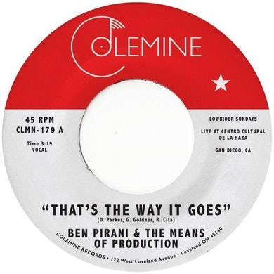 Ben Pirani THAT'S THE WAY IT GOES Vinyl Record