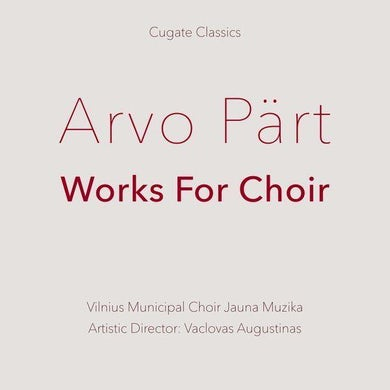Part / Augustinas WORKS FOR CHOIR Vinyl Record