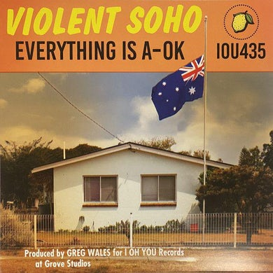 Violent Soho EVERYTHING IS A-OK Vinyl Record (Half Clear Orange/Half Blue Opaque)