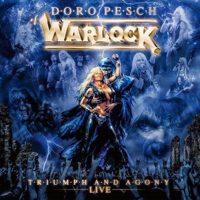 Doro WARLOCK - TRIUMPH & AGONY LIVE (MARBLE BLUE/WHITE) Vinyl Record