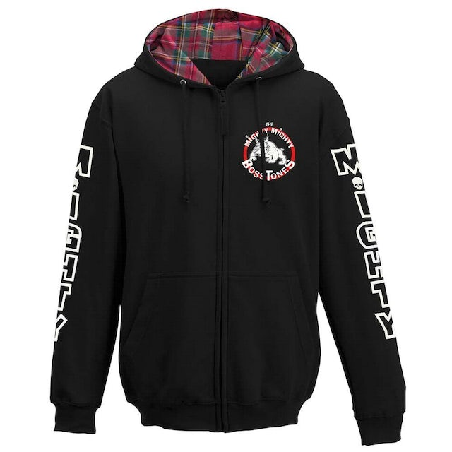 Mighty Mighty Bosstones Plaid Hood Bulldog Youth Zip Hoodie