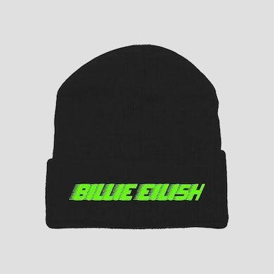 Billie Eilish Beanie | Black With Neon Print Billie Eilish Beanie