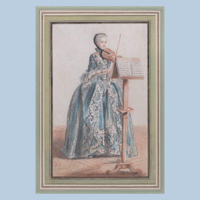 "Merchbar Museum Series T-Shirt | Louis de Carmontelle ""Woman Playing the Violin, Seen from the Front"" T-Shirt"