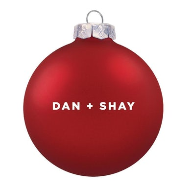 Dan + Shay Red Logo Ornament