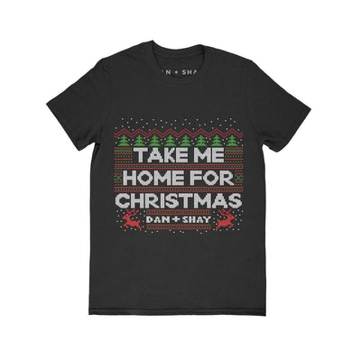Dan + Shay Take Me Home For Christmas Black T-Shirt