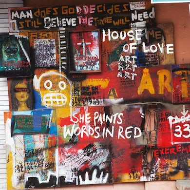 House Of Love She Paints Words In Red Vinyl Record