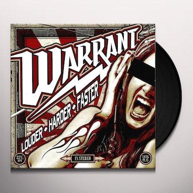 Warrant  Louder Harder Faster Vinyl Record
