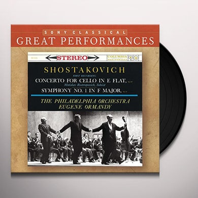 Eugene Ormandy Shostakovich: Concerto for Cello in E Flat Vinyl Record