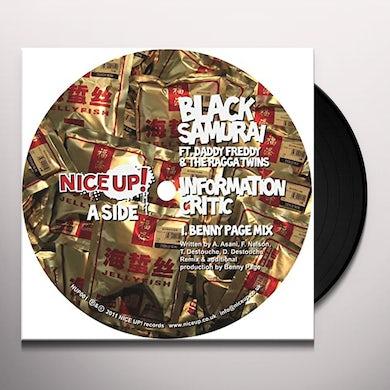 Black Samurai Information Critic Vinyl Record
