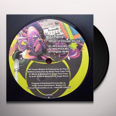 Dj Pierre What Is House Muzik Vinyl Record