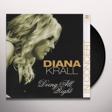 Diana Krall DOING ALL RIGHT-IN CONCERT Vinyl Record