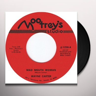Wayne Carter MAD MOUTH WOMAN Vinyl Record - UK Release