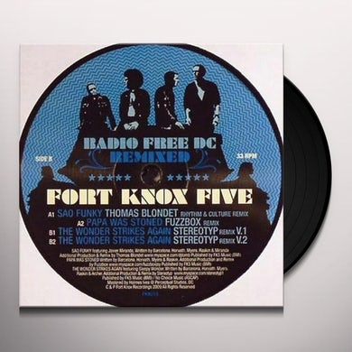 Fort Knox Five RADIO FREE DC REMIXED #8 Vinyl Record - UK Release