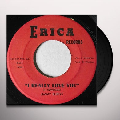 Jimmy Burns I REALLY LOVE YOU Vinyl Record - UK Release
