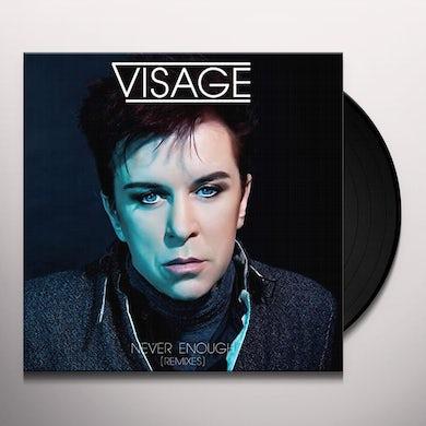 Visage NEVER ENOUGH (REMIXES) Vinyl Record - UK Release
