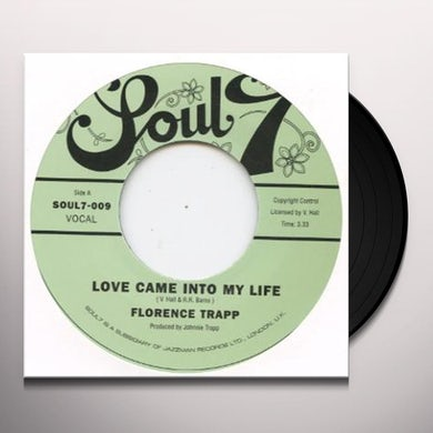 Florence Trapp LOVE CAME INTO MY LIFE Vinyl Record - UK Release