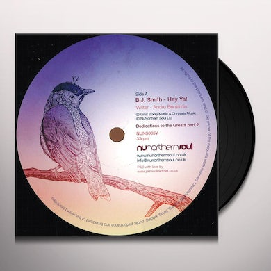 B.J Smith DEDICATIONS TO THE GREATS Vinyl Record - UK Release