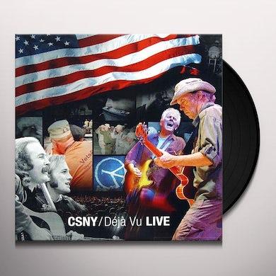 Crosby, Stills, Nash & Young DEJA VU LIVE Vinyl Record - 200 Gram Edition