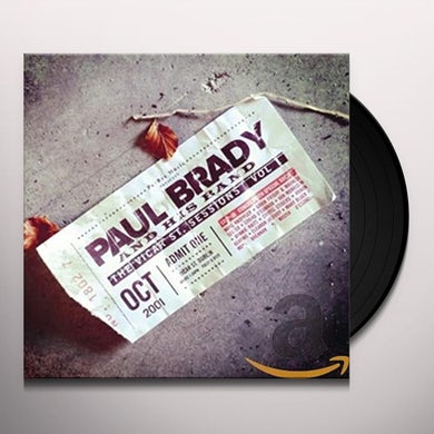 Paul Brady VICAR ST. SESSIONS 1 Vinyl Record - UK Release