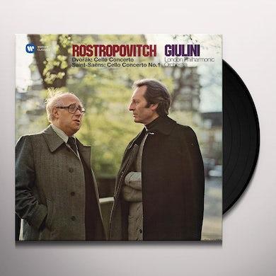 Mstislav Rostropovich Dvorak: Cello Concerto & Saint-Saens: Cello Concerto No. 1 Vinyl Record