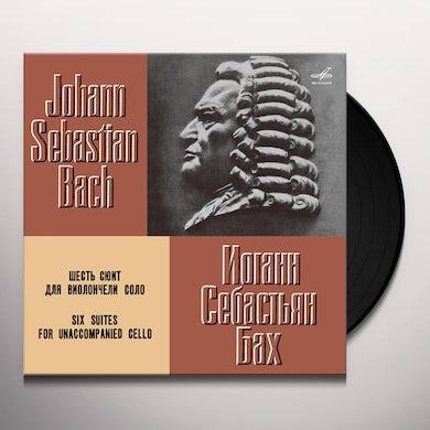 Daniil Shafran BACH: 6 SUITES FOR UNACCOMPANIED CELLO Vinyl Record