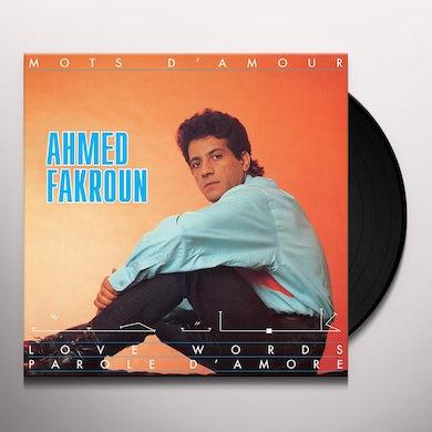 Ahmed Fakroun MOTS D'AMOUR Vinyl Record