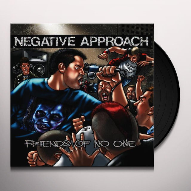 Negative Approach FRIENDS OF NO ONE Vinyl Record
