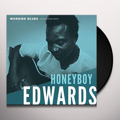 David Honeyboy Edwards WORRIED BLUES Vinyl Record
