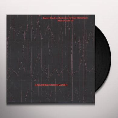 Karlheinz Stockhausen BETON-STUDIE / ZEITMASS FUR FUNF HOLZBLASER Vinyl Record