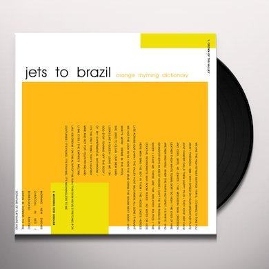 Jets to Brazil ORANGE RHYMING DICTIONARY Vinyl Record