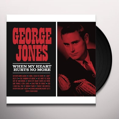 George Jones WHEN MY HEART HURTS NO MORE Vinyl Record