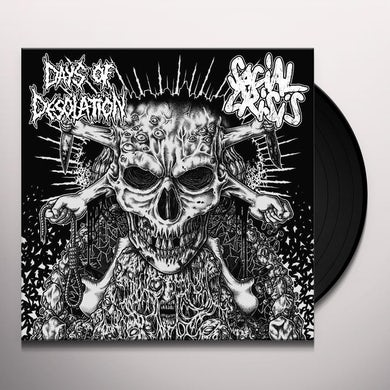 SOCIAL CRISIS / DAYS OF DESOLATION SPLIT Vinyl Record