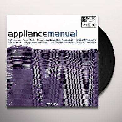 Appliance MANUAL Vinyl Record