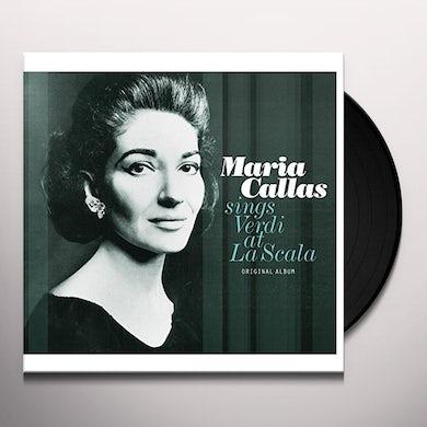 Maria Callas SINGS VERDI AT LA SCALA Vinyl Record