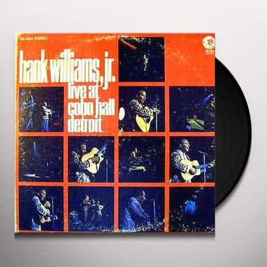 Hank Williams Jr. LIVE AT COBO HALL DETROIT: SONGS OF HANK SR. Vinyl Record
