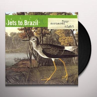 Jets to Brazil FOUR CORNERED NIGHT (TRANS CLR W BLACK) Vinyl Record