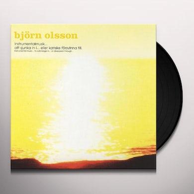 Instrumentalmusik Sjunka In Eller Kanske Forsvinna Till Vinyl Record