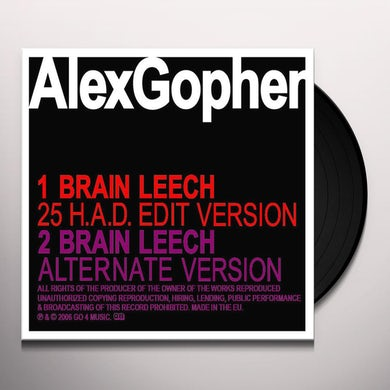 Alex Gopher BRAIN LEECH Vinyl Record