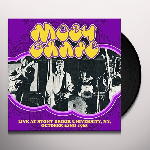 Moby Grape LIVE AT STONY BROOK UNIVERSITY NY OCTOBER 22ND Vinyl Record