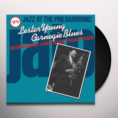 JAZZ AT THE PHILHARMONIC: LESTER YOUNG CARNEGIE Vinyl Record