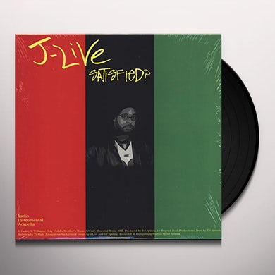 J-Live SATISFIED / A CHANGED LIFE Vinyl Record