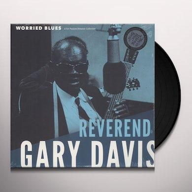 Reverend Gary Davis WORRIED BLUES Vinyl Record
